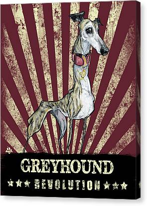 Greyhound Canvas Print - Greyhound Revolution by John LaFree