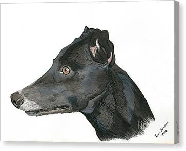 Greyhound Canvas Print by Yvonne Johnstone