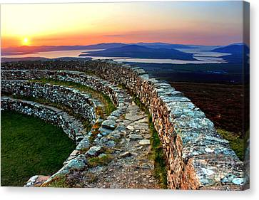 Grianan Fort Sunset Canvas Print by Nina Ficur Feenan