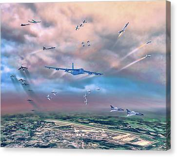 Canvas Print featuring the painting Griffiss Afb Rome Ny by Dave Luebbert