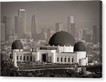 Griffith Canvas Print - Griffith Observatory by Adam Romanowicz