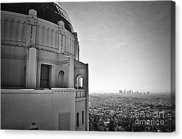 Griffith Observatory And Downtown Los Angeles Canvas Print by Kirt Tisdale