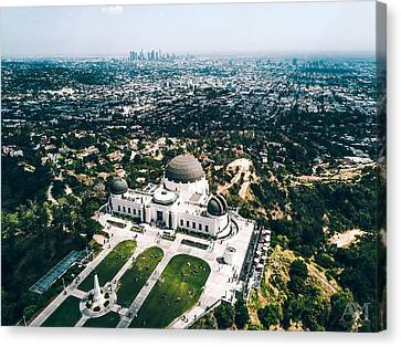 Griffith Observatory And Dtla Canvas Print