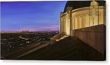 Griffith Park Observatory Canvas Print by Christopher Oakley
