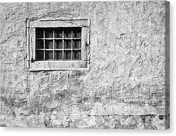 Canvas Print featuring the photograph Grille In A Wall - Slovenia by Stuart Litoff