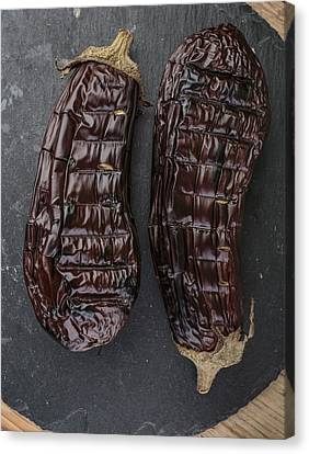 Grilled Aubergine Canvas Print by Nailia Schwarz
