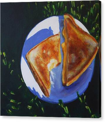 Grilled Cheese Please Canvas Print by Sarah Vandenbusch