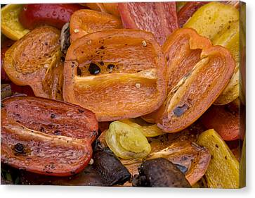 James Insogna Canvas Print - Grilled Roasted Red Bell Peppers by James BO  Insogna