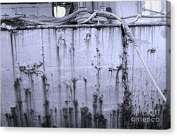 Canvas Print featuring the photograph Grimy Old Ship Hull by Yali Shi