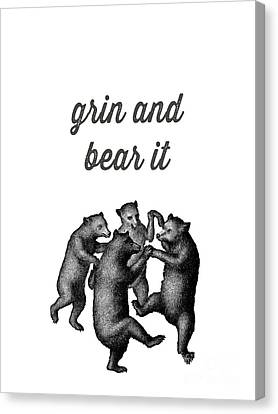 Dancing Canvas Print - Grin And Bear It by Edward Fielding