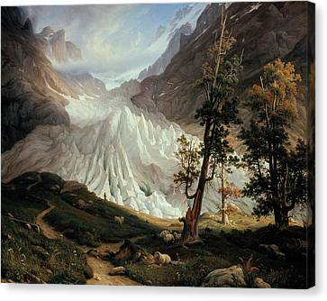 Fearnley Canvas Print - Grindelwald Glacier by Thomas Fearnley