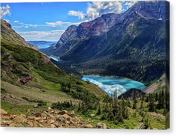 Grinell Hike In Glacier National Park Canvas Print by Andres Leon