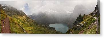 Grinnell Glacier Trail Panorama Canvas Print by Mark Kiver