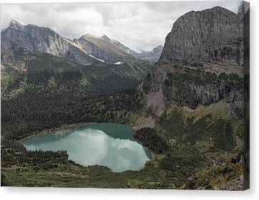 Grinnell Lake From The Trail No. 2 - Glacier Np Canvas Print