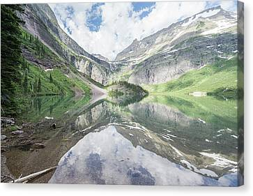 Grinnell Lake Mirrored Canvas Print