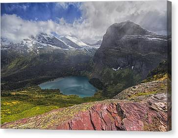 Grinnell Lake Overlook Canvas Print by Mark Kiver