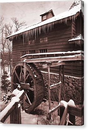 Grist Mill At Siver Dollar City Canvas Print by Garry McMichael