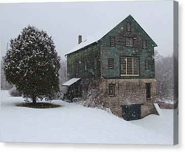 Grist Mill Of Port Hope Canvas Print by Davandra Cribbie