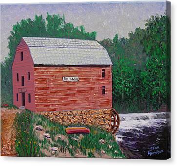 Grist Mill Canvas Print by Stan Hamilton