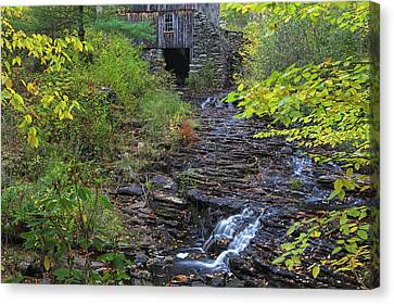 Canvas Print featuring the photograph Gristmill At Moore State Park by Juergen Roth
