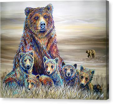Griz Country Canvas Print by Teshia Art