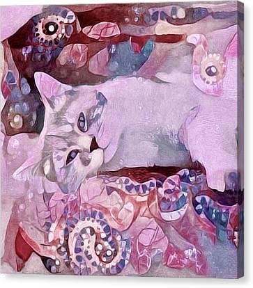 House Pet Canvas Print - Grizabella by Susan Maxwell Schmidt