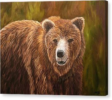 Grizzley Canvas Print