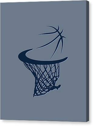 Grizzlies Basketball Hoop Canvas Print
