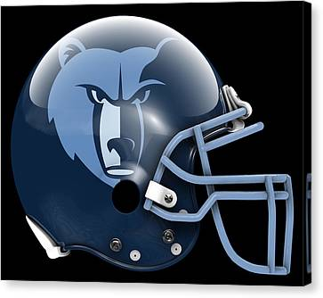 Grizzlies What If Its Football Canvas Print