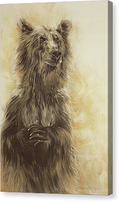 Grizzly Bear Canvas Print by Odile Kidd