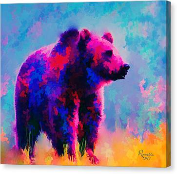 Grizzly Bear  Canvas Print by Rosalina Atanasova