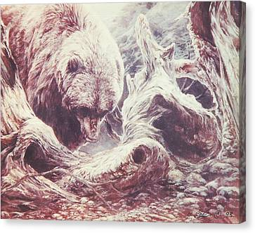 Grizzly Bear Canvas Print by Steve Greco