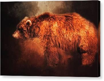Grizzly Bear  Canvas Print by Toni Hopper