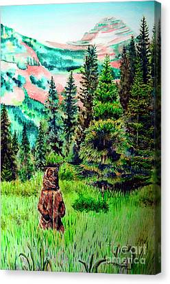 Grizzly Country Canvas Print by Tracy Rose Moyers