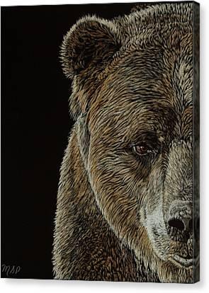 Grizzly Eye Canvas Print