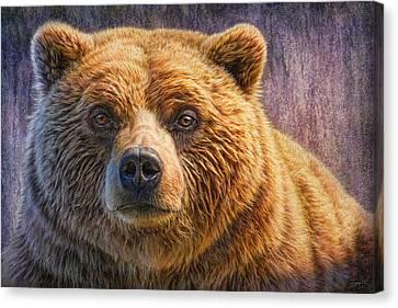 Grizzly Portrait Canvas Print by Phil Jaeger