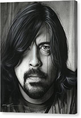 Dave Grohl - ' Grohl In Black II ' Canvas Print