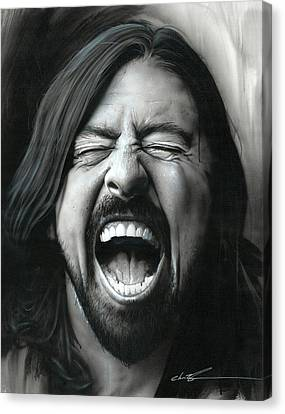 Dave Grohl - ' Grohl In Black IIi ' Canvas Print
