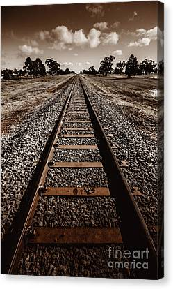 Grong Grong Train Track Canvas Print