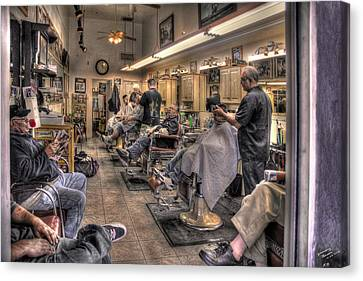 Hair Cuts Canvas Print - Grooming Tucson by Rich Beer
