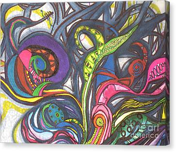 Canvas Print featuring the painting Groovy Series by Chrisann Ellis