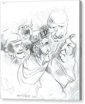 Grotesque Heads Canvas Print by Joseph  Arico