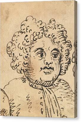 Hogarth Canvas Print - Grotesque Male Head by William Hogarth