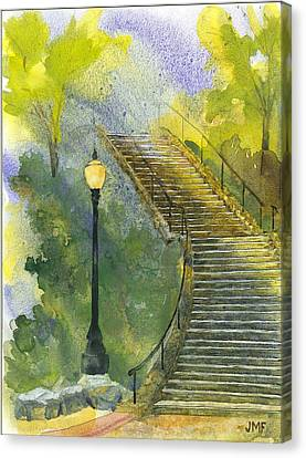Grotto Stairs Canvas Print by John Meng-Frecker