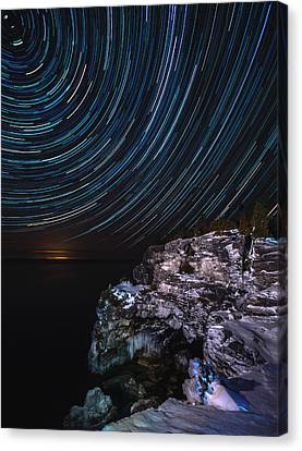 Grotto Star Trail Canvas Print by Cale Best