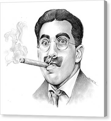 Groucho Canvas Print by Greg Joens