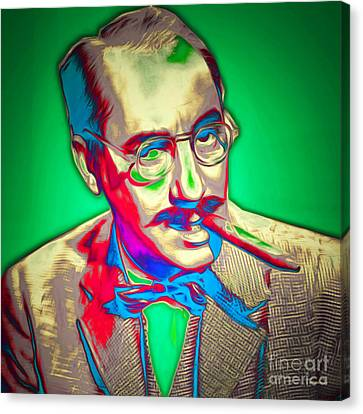 Groucho Marx 20151218 Square Canvas Print by Wingsdomain Art and Photography