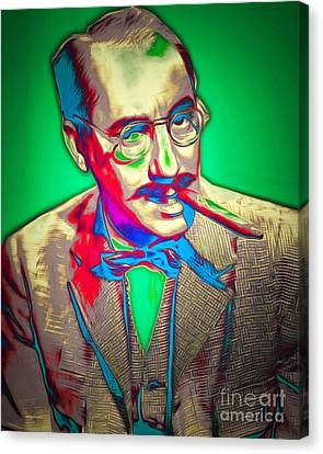 Groucho Marx 20151218v2 Canvas Print by Wingsdomain Art and Photography