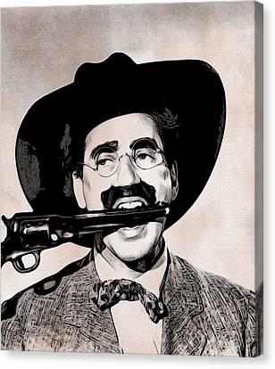 Groucho Marx Canvas Print by Alvaro Valino