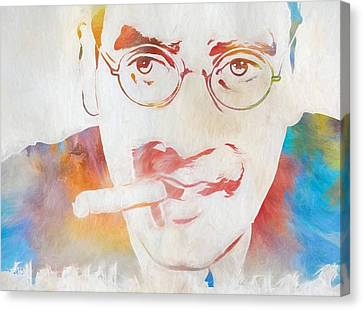 Groucho Marx Canvas Print by Dan Sproul